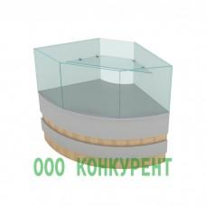 Угловая витрина УсЗ-90 Бр Ст