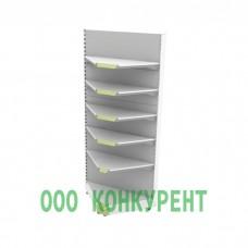 Металлический стеллаж пристенный угловой (внутренний) без фриза