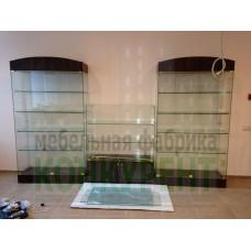 Стеклянные витрины для посуды
