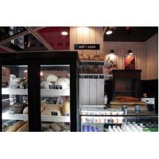 Торговое оборудование, витрины для русского магазина молока и хлеба