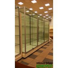 Профильные витрины  для зоомагазина
