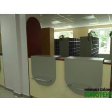 Стойка регистратуры, гардеробная стойка для Приозерской межрайонной больницы