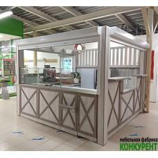 Торговый остров для продажи выпечки и кофе