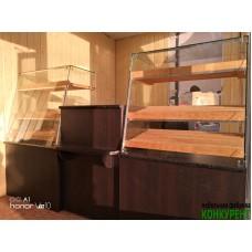 Прилавки и витрины для кафе-пекарни