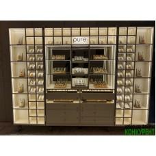 Стеллаж-чемодан для украшений из янтаря