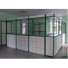 Торговое оборудование для аптеки по адресу  г. Пушкин, Павловское шоссе д.21